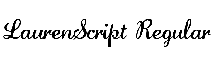 LaurenScript Regular Fuentes Gratis Descargar
